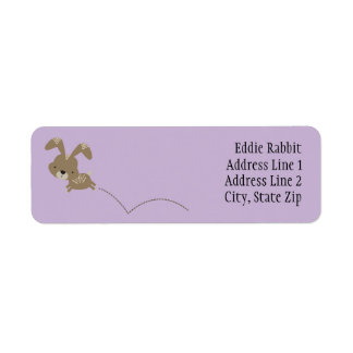 Hopping Bunny Rabbit Custom Return Address Labels