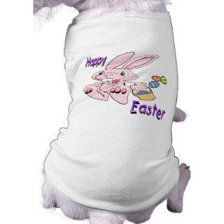 Hopping Easter Bunny Sleeveless Dog Shirt