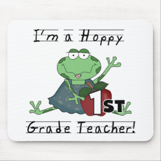 Hoppy 1st Grade Teacher Tshirts and Gifts Mousepads