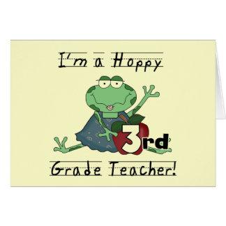 Hoppy 3rd Grade Teacher Tshirts and Gifts Greeting Card