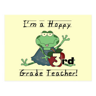 Hoppy 3rd Grade Teacher Tshirts and Gifts Postcard