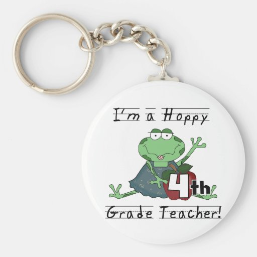 Hoppy 4th Grade Teacher T-shirts and Gifts Keychains