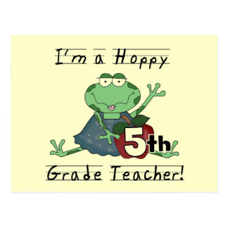 Hoppy 5th Grade Teacher Tshirts and Gifts Post Cards