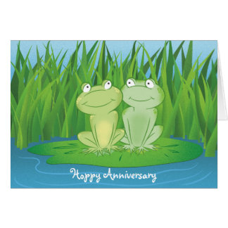Hoppy Anniversary Card