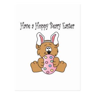 Hoppy Beary Easter Postcard