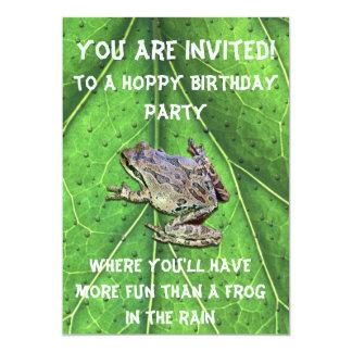 HOPPY BIRTHDAY 13 CM X 18 CM INVITATION CARD