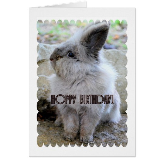Hoppy Birthday Bunny Card