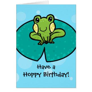 Hoppy Birthday frog birthday card