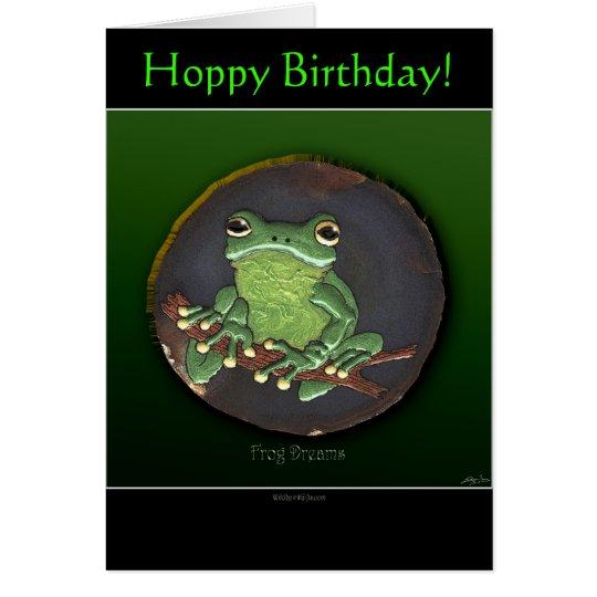 HOPPY BIRTHDAY Frog Note Card