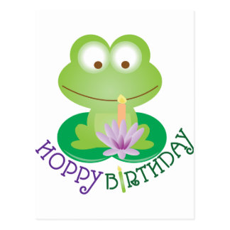 Hoppy Birthday Postcard