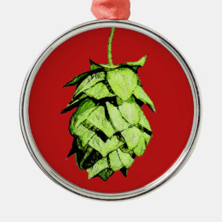 Hoppy Cheer to you! Silver-Colored Round Decoration