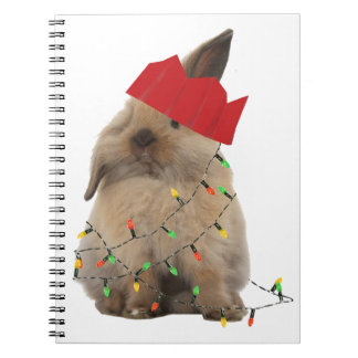 Hoppy Christmas Bunny Notebook
