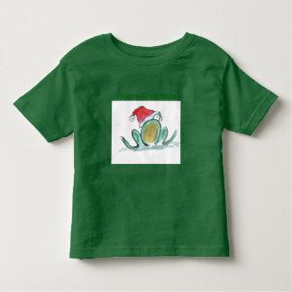 Hoppy Christmas Frog Toddler T-Shirt