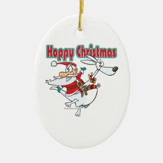 hoppy christmas santa hopping kangaroo christmas ornament