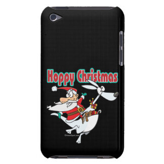 hoppy christmas santa hopping kangaroo iPod touch Case-Mate case