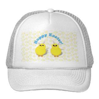 HOPPY EASTER!  Baby Chicks w/Bunny Ears Mesh Hat