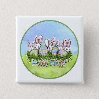 Hoppy Easter Bunnies button