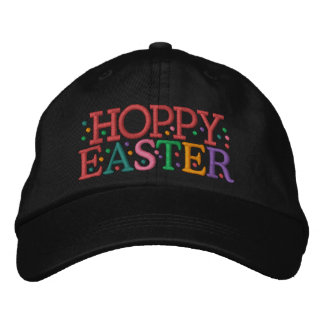 HOPPY EASTER Cap by SRF Embroidered Baseball Cap