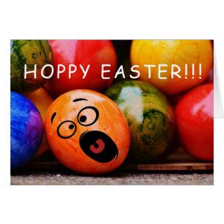 Hoppy Easter Funny Dyed Easter Eggs Card