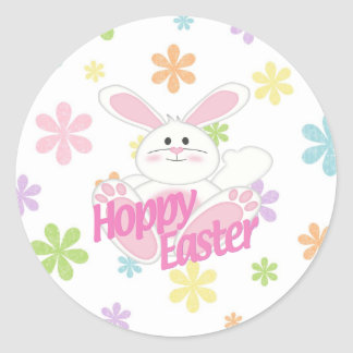 Hoppy Easter Round Sticker