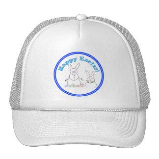 Hoppy Easter Snow Bunnies (Blue Text) Trucker Hats