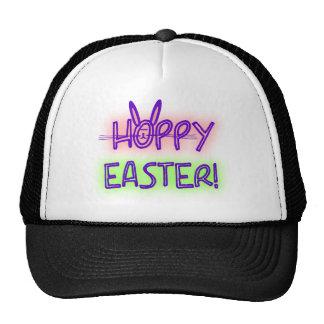Hoppy Easter With Bunny Face & Ears Cap