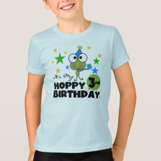 Hoppy Frog 3rd Birthday Tshirts and Gifts