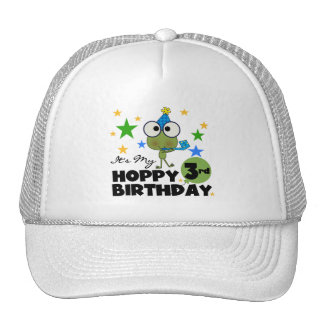 Hoppy Frog 3rd Birthday Tshirts and Gifts Cap