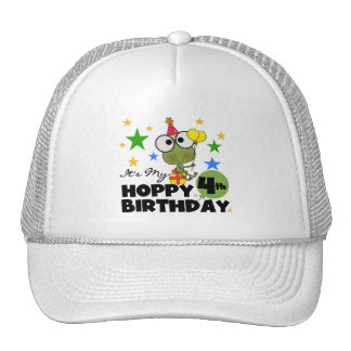 Hoppy Frog 4th Birthday T-shirts and Gifts Cap
