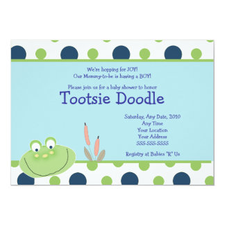 HOPPY FROG Froggy Baby Shower Invitation