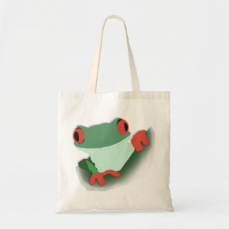 hoppy frog tote bag