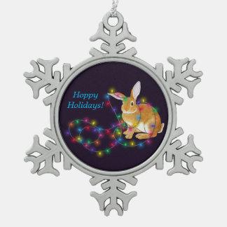 Hoppy Holidays Bunny Ornament