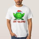 Hoppy Holidays Cartoon Frog Shirt