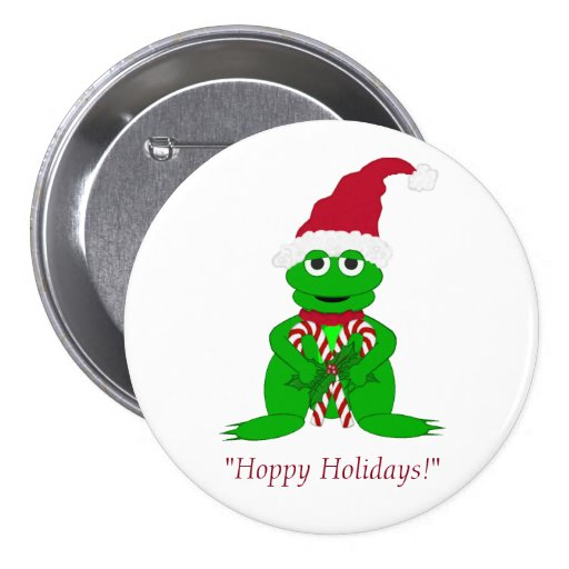 Hoppy Holidays Christmas Button