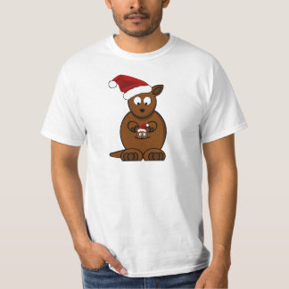 Hoppy Holidays Christmas Kangaroo and Joey T-Shirt