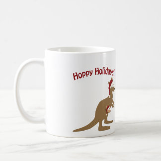 Hoppy Holidays! christmas Kangaroo Coffee Mug