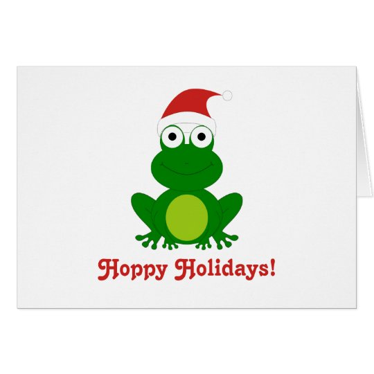 Hoppy Holidays Santa Frog Card