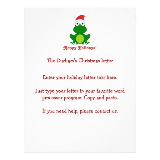 Hoppy Holidays Santa Frog Full Color Flyer