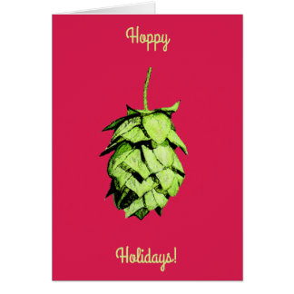 Hoppy Holidays!  Stunning hop , cheery greetings! Card