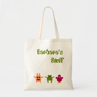 Hoppy Monsters Name Budget Tote Bag Barbara