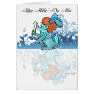 Hoppy Mother's Day Nana, Mothering Sunday Greeting Card