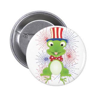 Hoppy the Frog 6 Cm Round Badge
