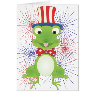 Hoppy the Frog Greeting Card