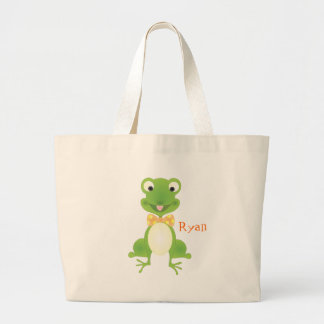 Hoppy the Frog Jumbo Tote Bag