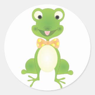 Hoppy the Frog Round Sticker