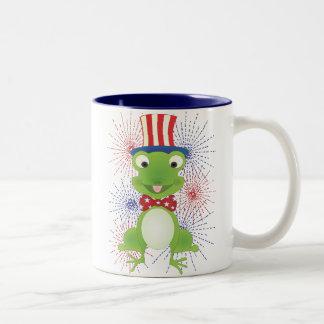 Hoppy the Frog! Two-Tone Mug