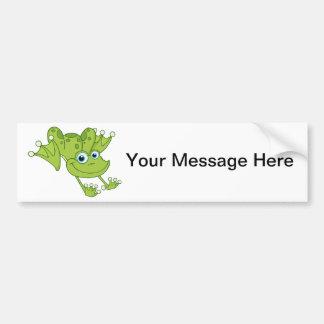 Hoppy the Happy Frog Bumper Sticker