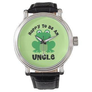 Hoppy To Be A Uncle Gift Wristwatches