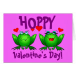 Hoppy Valentines Day Funny Frogs Greeting Card