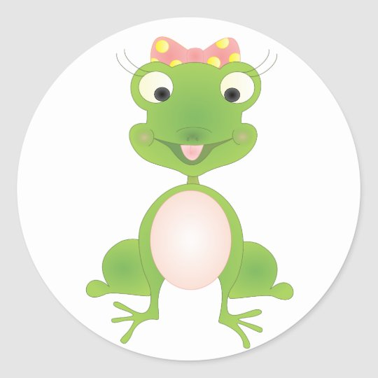 Hoppy's Girl Classic Round Sticker